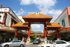 Scena della via della città della Cina della città di Brisbane Fotografia Stock