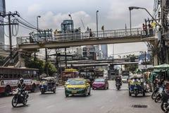 Scena della via di Bangkok Fotografia Stock