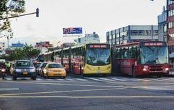 Scena della via di Bogota Colombia Immagine Stock