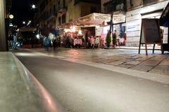 Scena della via di Brera, Milano, Italia Fotografie Stock
