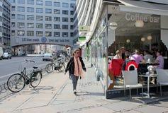 Scena della via di Copenhaghen Immagine Stock Libera da Diritti