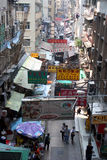 Scena della via di Hong Kong Fotografie Stock