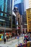 Scena della via di Hong Kong Fotografia Stock