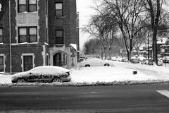 Scena della via di inverno Immagine Stock Libera da Diritti