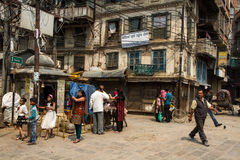 Scena della via di Kathmandu fotografie stock libere da diritti