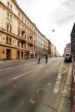 Scena della via di Praga Immagine Stock