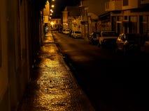 Scena della via a Faro Portogallo al crepuscolo Immagine Stock Libera da Diritti