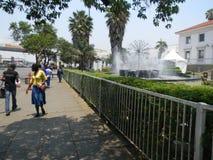 Scena della via a Harare vicino alla Camera di città Fotografie Stock Libere da Diritti