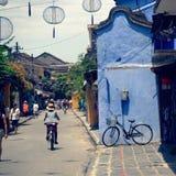 Scena della via in Hoi An, Vietnam Immagini Stock Libere da Diritti