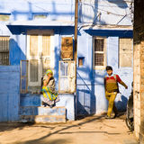 Scena della via, Jodhpur, India Immagini Stock
