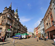 Scena della via in Klodzko, Polonia Immagini Stock Libere da Diritti