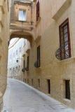 Scena della via - Mdina, Malta Immagini Stock