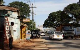 Scena della via mombasa Fotografia Stock Libera da Diritti