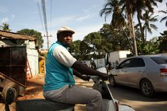 Scena della via mombasa Fotografie Stock Libere da Diritti