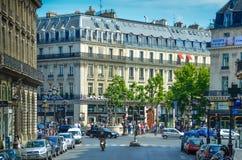 Scena della via a Parigi Immagine Stock