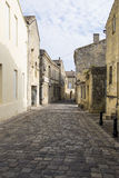 Scena della via in st Emilion, Bordeaux, Francia fotografia stock
