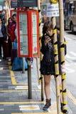 Scena della via in Tsim Sha Tsui, Hong Kong Immagine Stock Libera da Diritti