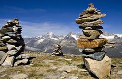 Scena delle montagne Immagine Stock