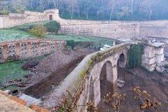 Scena dello scavo di Alhambra Immagine Stock Libera da Diritti