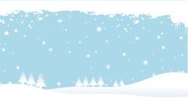 Scena dello Snowy Immagine Stock Libera da Diritti