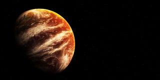 Scena dello spazio con il cielo della stella e del pianeta Immagini Stock