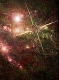 Scena dello spazio con una traversa Fotografie Stock