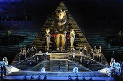 Scena di Aida all'arena di Verona Fotografie Stock Libere da Diritti