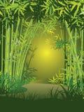 Scena di bambù della foresta illustrazione vettoriale
