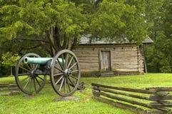 Scena di battaglia di guerra civile Fotografia Stock Libera da Diritti