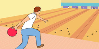 Scena di bowling Fotografie Stock Libere da Diritti
