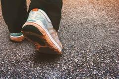 Scena di camminata di esercizio della gente Fotografia Stock Libera da Diritti