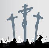 Scena di crucifissione Fotografia Stock