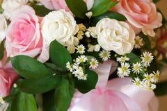 Scena di disposizione dei fiori rosa di colore con luce naturale Immagine Stock
