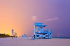 Scena di estate in Miami Beach Florida Immagini Stock Libere da Diritti