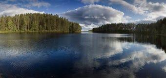 Scena di estate nel lago Fotografie Stock