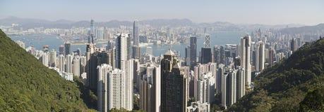 Scena di giorno del porto di Hong Kong Fotografie Stock