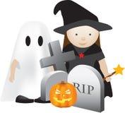 Scena di Halloween Immagini Stock