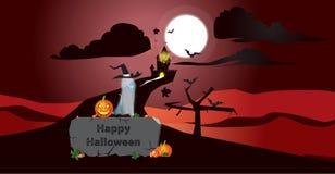 Scena di Halloween Illustrazione Vettoriale
