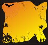 Scena di Halloween Fotografia Stock