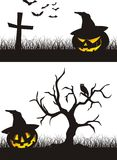 Scena di Halloween Fotografia Stock Libera da Diritti