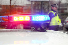 Scena di incidente della polizia Fotografie Stock Libere da Diritti