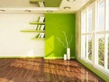 Scena di interior design con una grande finestra, Fotografie Stock Libere da Diritti