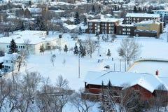 Scena di inverno della città Immagini Stock Libere da Diritti