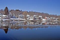 Scena di inverno della Nuova Inghilterra Fotografia Stock