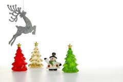 Scena di inverno delle figurine della resina Immagine Stock Libera da Diritti