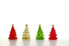 Scena di inverno delle figurine della resina Immagini Stock