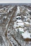 Scena di inverno di Edmonton Fotografie Stock