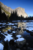 Scena di inverno di Yosemite Fotografia Stock Libera da Diritti