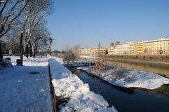 Scena di inverno a Firenze Immagini Stock