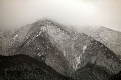 Scena di inverno nelle alpi giapponesi, prefettura di Nagano Fotografie Stock Libere da Diritti